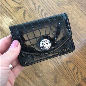 {Brighton} black patent leather card case